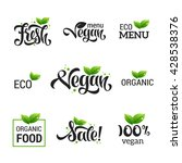 vegan lettering. vector... | Shutterstock .eps vector #428538376