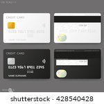white credit card template | Shutterstock .eps vector #428540428
