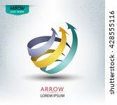 triple arrow concept logo...   Shutterstock .eps vector #428555116