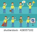 vector flat business man set | Shutterstock .eps vector #428557102