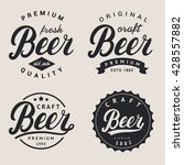 lettering beer logotype  label... | Shutterstock .eps vector #428557882