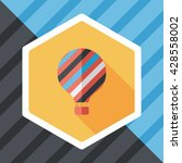 hot air balloon flat icon with... | Shutterstock .eps vector #428558002