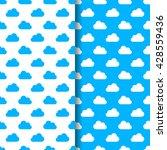 cloud seamless pattern | Shutterstock .eps vector #428559436