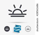 light on icon. lamp bulb or... | Shutterstock .eps vector #428561686