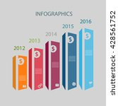 timeline infographics design... | Shutterstock .eps vector #428561752
