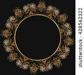 round lace border frame...   Shutterstock .eps vector #428562322
