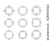 set of vector logo frames.... | Shutterstock .eps vector #428565562