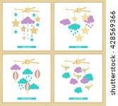 childbirth card. baby shower... | Shutterstock .eps vector #428569366