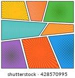 comics book background in... | Shutterstock .eps vector #428570995