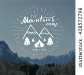 mountains hand drawn sketch...   Shutterstock .eps vector #428572798