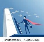 super businessman standing with ... | Shutterstock .eps vector #428580538