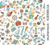 summer seamless pattern can be... | Shutterstock .eps vector #428588116