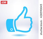 like  icon. hand finger up sign.... | Shutterstock .eps vector #428590045