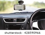 gps navigation map on phone in... | Shutterstock . vector #428590966
