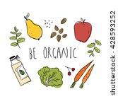 illustration of organic food.... | Shutterstock .eps vector #428593252