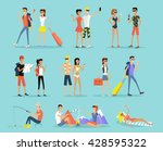 people vacation set man and... | Shutterstock .eps vector #428595322