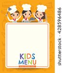 kids menu young chef children... | Shutterstock .eps vector #428596486