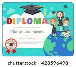 primary school kids graduation... | Shutterstock .eps vector #428596498