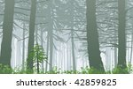 temperate rain forest in mist | Shutterstock .eps vector #42859825