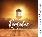 ramadan landscape background... | Shutterstock .eps vector #428601862