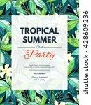 bright hawaiian design with... | Shutterstock .eps vector #428609236