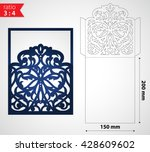 luxury laser cut wedding... | Shutterstock .eps vector #428609602