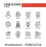 set of modern vector plain line ... | Shutterstock .eps vector #428616226