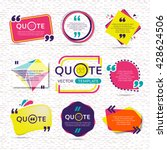 vector set of creative quote... | Shutterstock .eps vector #428624506