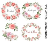 watercolor rose bouquets and... | Shutterstock . vector #428624566