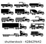 vector trucks icon set | Shutterstock .eps vector #428629642