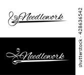 set logos needlework. the... | Shutterstock .eps vector #428636542