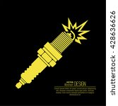 icon automobile spark plug. the ... | Shutterstock .eps vector #428636626