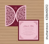 wedding invitation or greeting... | Shutterstock .eps vector #428640052