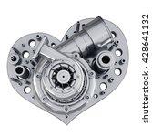 Concept. Iron Heart...