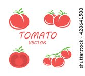 tomato in flat style.. isolated ... | Shutterstock .eps vector #428641588