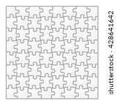 vector igsaw puzzle blank... | Shutterstock .eps vector #428641642