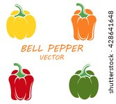 bell peppers in flat style.... | Shutterstock .eps vector #428641648