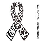 Cancer Ribbon Silhouette....