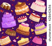 seamless pattern illustration... | Shutterstock .eps vector #428642656
