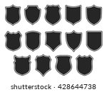 set of vector shields isolated... | Shutterstock .eps vector #428644738
