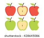 apples. set of red  green ... | Shutterstock .eps vector #428645086
