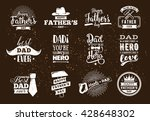 happy fathers day set. vector... | Shutterstock .eps vector #428648302