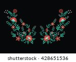 embroidery for fashion | Shutterstock .eps vector #428651536