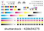 cmyk press marks color bar | Shutterstock .eps vector #428654275