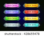 colorful shiny horizontal game... | Shutterstock .eps vector #428655478