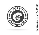 turbo performance icon badge... | Shutterstock .eps vector #428659342