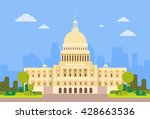 capitol building united states... | Shutterstock .eps vector #428663536