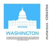 capitol building united states... | Shutterstock .eps vector #428663566