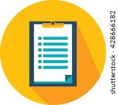 checklist | Shutterstock .eps vector #428666182