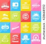 illustration set summer... | Shutterstock . vector #428668552